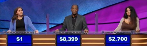 Final Jeopardy (1/10/2018) Lindsay Resnick, Gilbert Collins, Flora Leen