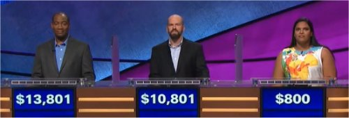 Final Jeopardy (1/12/2018) Gilbert Collins, Alex Cook, Alisha Mathalikunnel