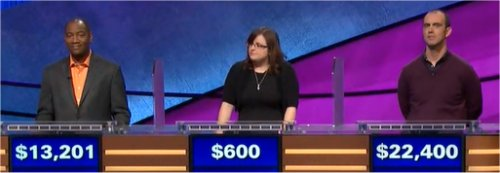 Final Jeopardy (1/17/2018) Gilbert Collins, Amanda Griggs and Lee Quinn