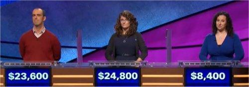 Final Jeopardy (1/19/2018) Lee Quinn, Rachel Lindgren, Sarah Daly
