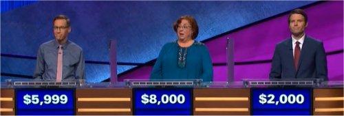Final Jeopardy (1/2/2018) Nick Spicher, Saralee Etter, Olev Jaakson