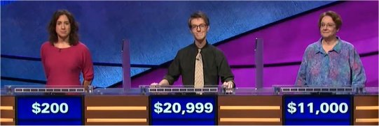 Final Jeopardy (1/29/2018) Jennifer Tomassi, Ryan Fenster, Maria dodPecoraro