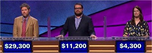 Final Jeopardy (10/10/2017) Austin Rogers, Chris Cardinal, Sarah Favorite