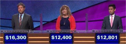 Final Jeopardy (10/11/2017) Austin Rogers, Lisa Rhae Burgess, Brian Kato