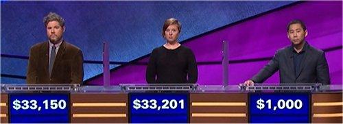 Final Jeopardy (10/12/2017) Austin Rogers, Scarlett Sims, Sean Chong