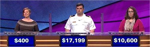 Final Jeopardy (10/13/2017) Scarlett Sims, Manny Abell, Michelle Kritselis