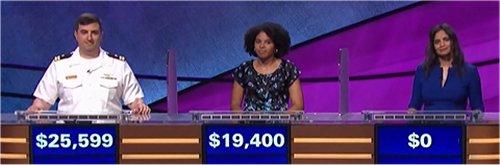 Final Jeopardy (10/16/2017) Manny Abell, Emily Wilson, Jayanthi Martins