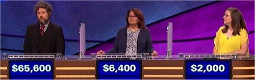Final Jeopardy (10/2/2017) Austin Rogers, Bonnie Leih, Veryl Gambino