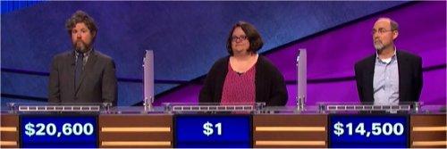 Final Jeopardy (10/4/2017) Austin Rogers, Jay Hancock, Marguerite Moran