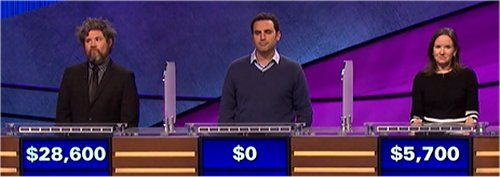 Final Jeopardy (10/5/2017) Austin Rogers, Todd McCafferty, Cathy Subick