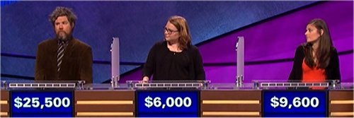 Final Jeopardy (10/6/2017) Austin Rogers, Rebekah Smith, Diana McInnis