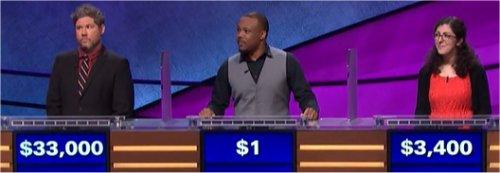 Final Jeopardy (10/9/2017) Austin Rogers, Rich Coble, Rain Dunaway