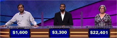 Final Jeopardy (11/1/2017) Anand Kandaswamy, Rahul Jain, Jenny Wrigley