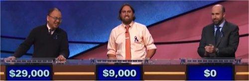 Final Jeopardy (11/10/2017) Andrew Pau, Justin Vossler, Jon Eisenman
