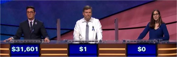 Final Jeopardy (11/14/2017) Buzzy Cohen, Jason Sterlacci, Lisa Schlitt