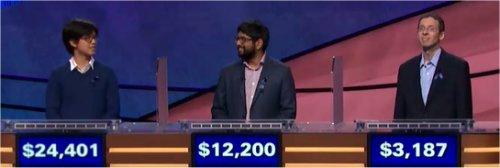 Final Jeopardy (11/15/2017) Alan Lin, Pranjal Vachaspati, Tim Aten