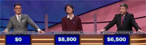 Final Jeopardy (11/16/2017) Buzzy Cohen, Alan Lin, Austin Rogers