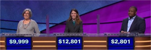 Final Jeopardy (11/2/2017) Jenny Wrigley, Monica Ashar, Kelvin Smith