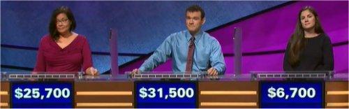 Final Jeopardy (11/20/2017) Kara Chandler, Eric Maher, Alex Jumper