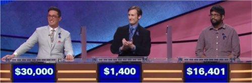 Final Jeopardy (11/6/2017) Buzzy Cohen, Hunter Appler, Pranjal Vachaspati