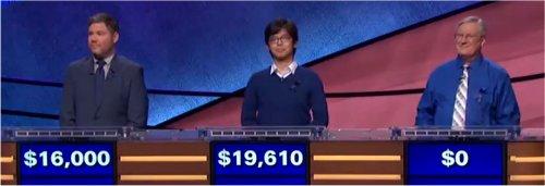 Final Jeopardy (11/8/2017) Austin Rogers, Alan Lin, David Clemmons