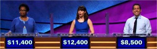 Final Jeopardy (12/25/2017) Donna Brown, Natalie Ballas, Charlie Harless