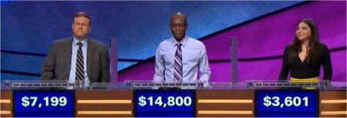 Final Jeopardy (12/29/2017) Travis Rojakovick, Henry Ayoola, Gwynedd Stuart