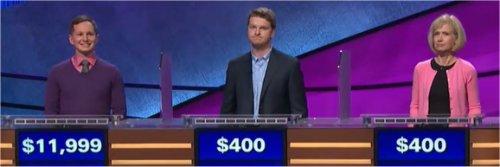 Final Jeopardy (12/5/2017) Kyle Becker, Matthias Clark, Kimberly Kist