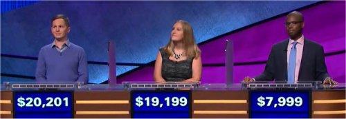Final Jeopardy (12/7/2017) Kyle Becker, Katia Noll, Joe Gaspard