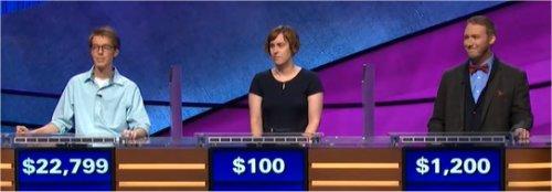 Final Jeopardy (2/1/2018) Ryan Fenster, Sara Helmers, Justin Earnshaw