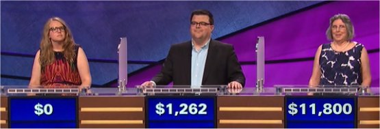 Final Jeopardy (9/18/2017) Ellen Wernecke, Andy Hyland, Angela Ward