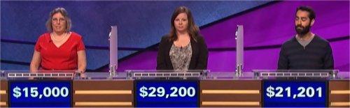 Final Jeopardy (9/19/2017) Angela Ward, Betsy Knudson, Farhad Mahmoudi