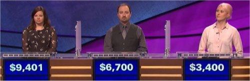 Final Jeopardy (9/20/2017) Betsy Knudson, Justin Torello, Julie Roth