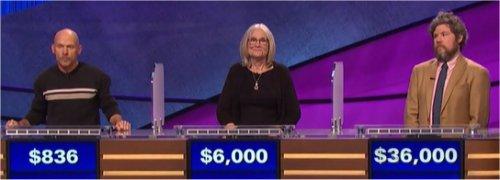 Final Jeopardy (9/26/2017) Dennis Fawcett, Tina Doppler, Austin Rogers