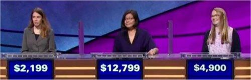 Final Jeopardy (11/3/2017) Monica Ashar, Kara Chandler, Nicole Jarvis