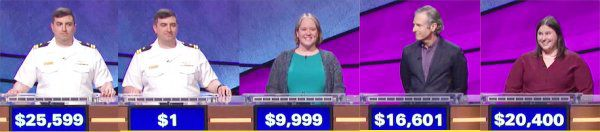 Jeopardy! champs for the week of October 16, 2017