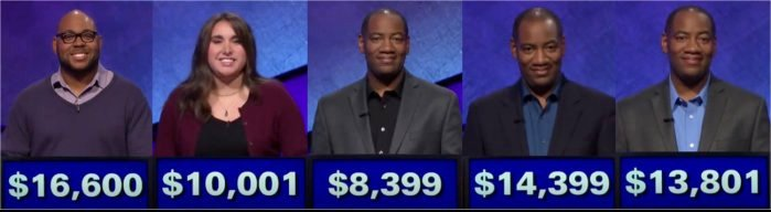 Jeopardy! champs for the week of January 8, 2018
