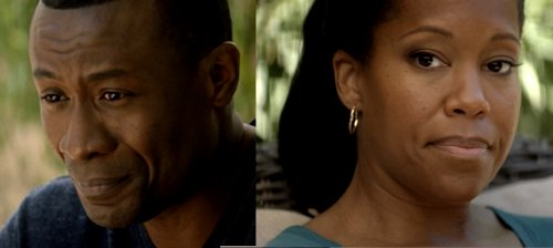 Sean Blakemore and Regina King in American Crime