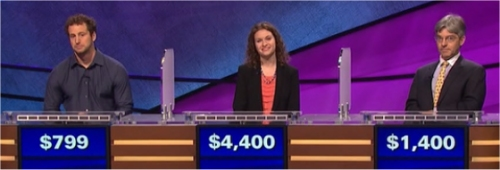 Final Jeopardy (1/11/2017) Colby Taylor, Zoey Orol, Alain Norman