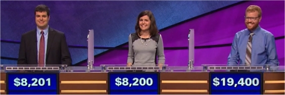 Final Jeopardy (1/19/2017) John Avila, Rachel Bauman, Neil Uspal