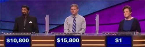 Final Jeopardy (1/2/2017) Mukund Marathe, Gavin Mulligan, Katie Carter