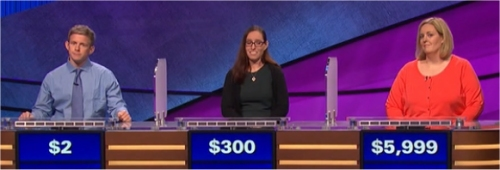 Final Jeopardy (1/3/2017) Gavin Mulligan, Rebecca Glass, Amanda Berofsky
