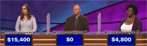 Final Jeopardy (1/30/2017) Lisa Schlitt, Joe Di Dio, Valerie Connors