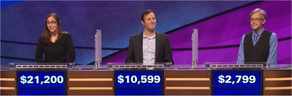 Final Jeopardy (1/31/2017) Lisa Schlitt, Ben Smolen, Doug Baker