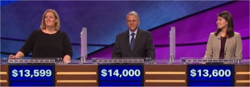 Final Jeopardy (1/5/2017) Amanda Berofsky, Kelsey Morgan, Joe Bartolomeo