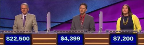 Final Jeopardy (1/6/2017) Joe Bartolomeo, Dante Atkins, Christina Bussmann