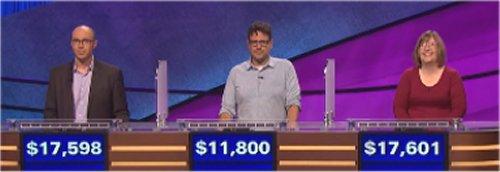 Final Jeopardy (10-10-2016) Nate Ross, Charlie Olsky, Pidge Meade