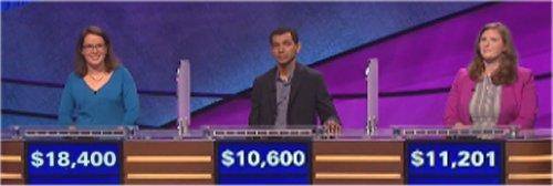 Final Jeopardy (10/13/2016) Susan Cole, Bhaskara Marthi, Amanda Watson