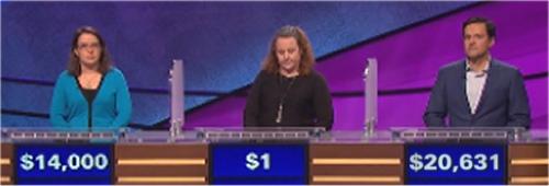 Final Jeopardy (10/17/2016) Susan Cole, Shannon Dillmore, Marianne Novak