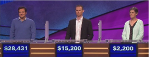 Final Jeopardy (10/18/2016) Shannon Dillmore, Jeremy Zarowitz, Anne Exler